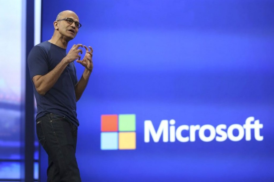 Le patron de Microsoft, Satya Nadella.... (PHOTO ARCHIVES REUTERS)