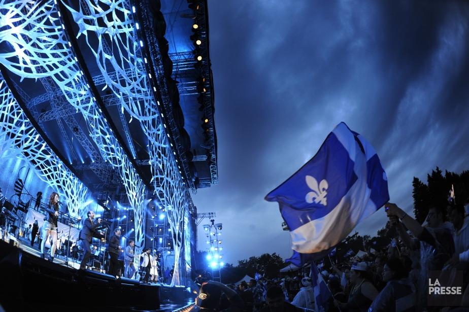 Le grand spectacle du parc Maisonneuve animé par... (Photo Bernard Brault, La Presse)