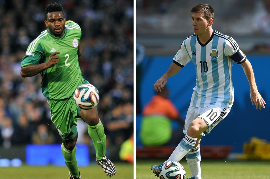 Les capitaines du Nigeria et de l'Argentine, Joseph... (Photos AFP)