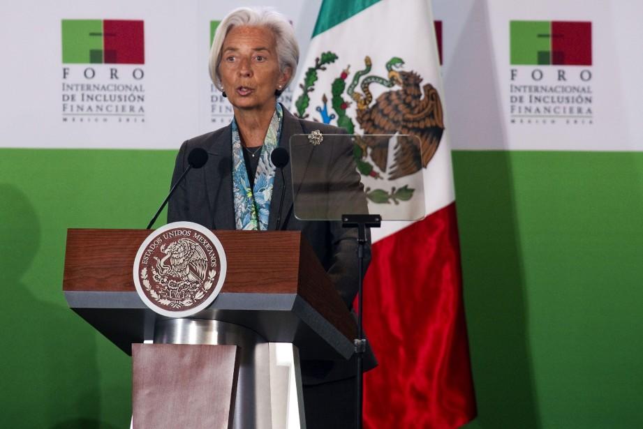 La directrice du FMI, Christine Lagarde, lors de... (PHOTO ALFREDO ESTRELLA, AFP)