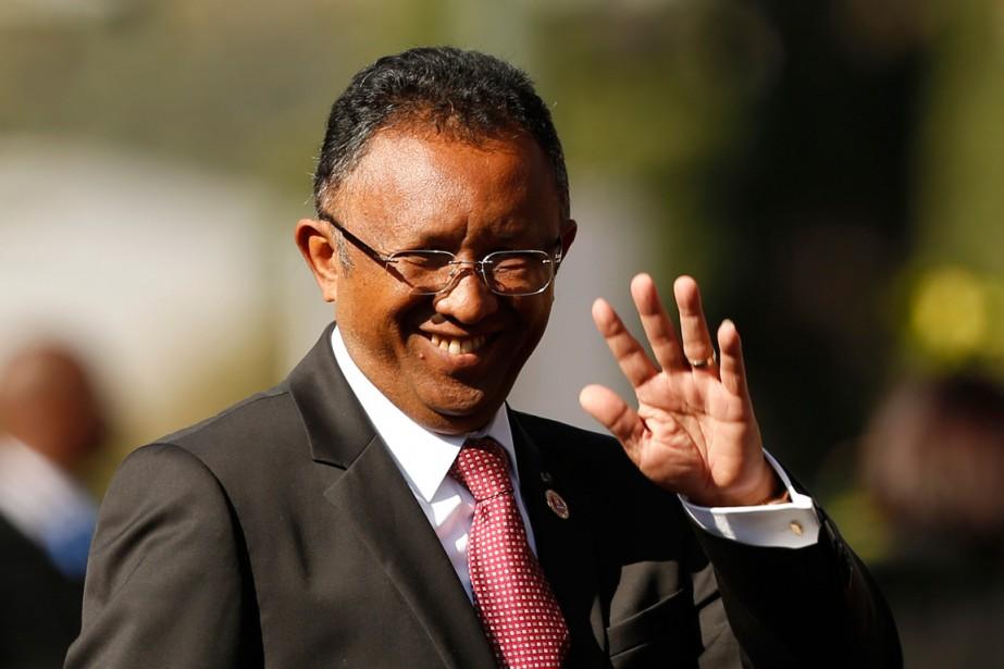 A l'issue de cinq années d'instabilité, Hery Rajaonarimampianina... (Photo Siphiwe Sibeko, Reuters)