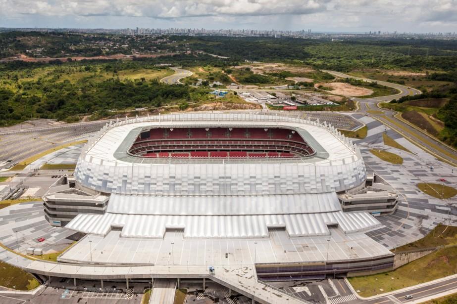L'Arena Pernambuco a été érigé en pleine nature,... (Photo archives AP)
