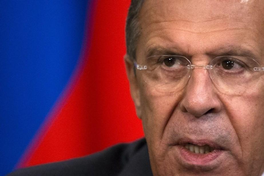 Le ministre russe des Affaires étrangères, Sergueï Lavrov.... (Photo Alexander Zemlianichenko, AO)