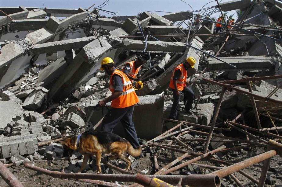 Les effondrements d'immeubles sont des accidents fréquents en... (Photo REUTERS)