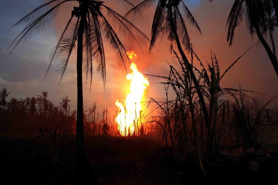 Les causes de l'explosion, propriété de la compagnie... (Photo AFP)