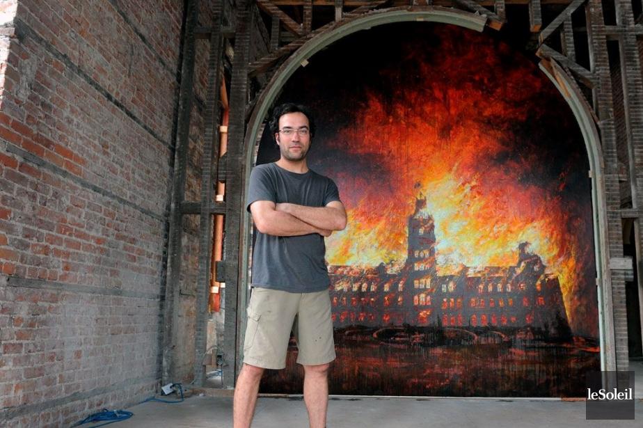 Un tableau du parlement en flammes au parlement for Bureau martin