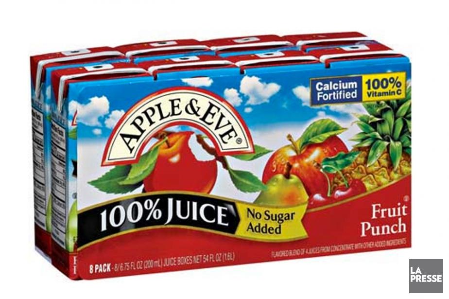 Lassonde détiendra une participation de 90% dans Apple... (PHOTO FOURNIE PAR APPLE & EVE)