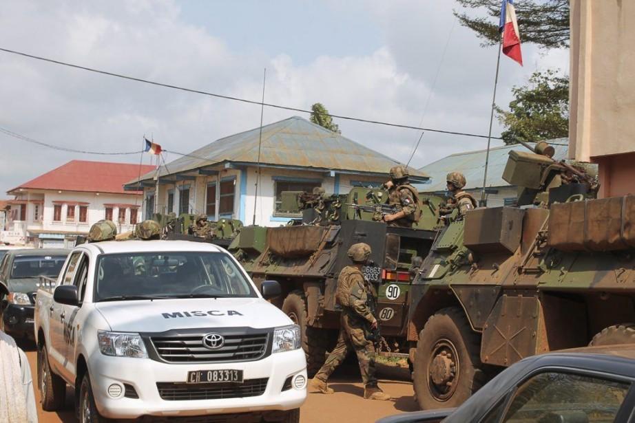Déployée en Centrafrique depuis 2008 à la demande... (PHOTO SEYLLOU, ARCHIVES AFP)