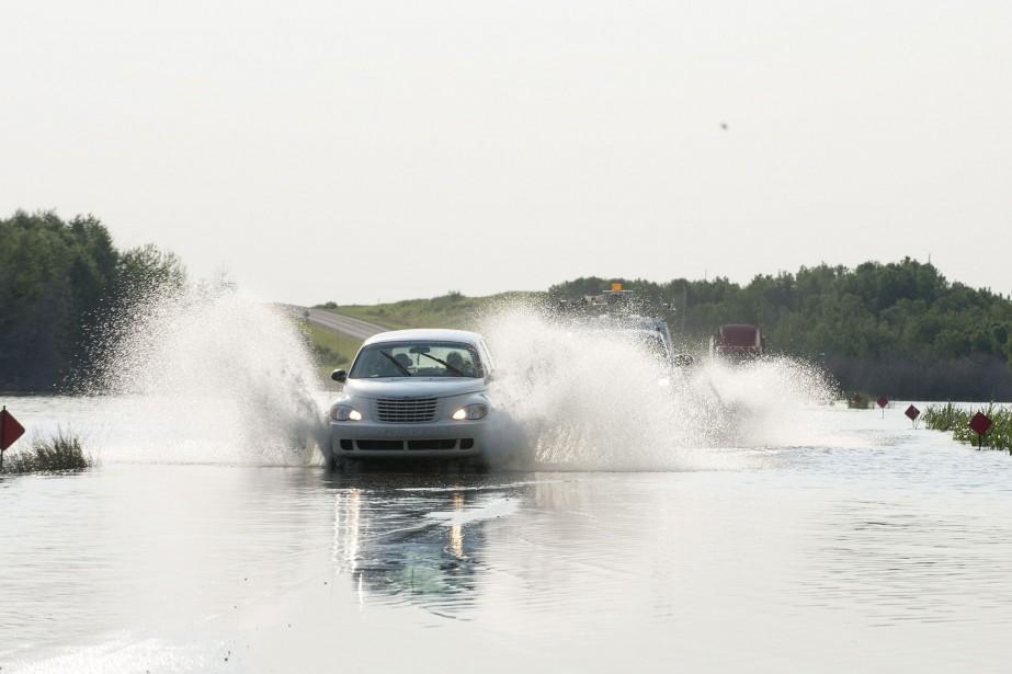 La situation se détériore rapidement et la pointe... (Photo Liam Richards, La Presse Canadienne)