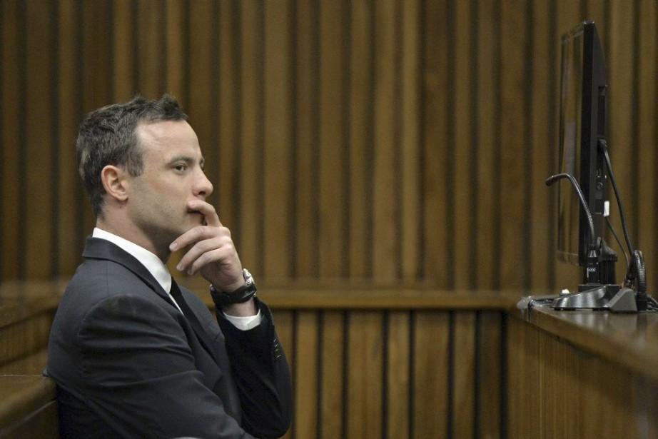 Dans la courte animation vidéo, on voit Pistorius... (PHOTO HERMAN VERWEY, Archives AFP)