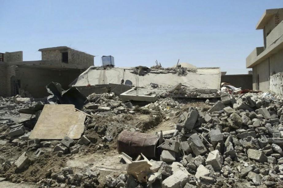 Plusieurs maisons détruites dans la ville d'Al-Karma, à... (Photo AP)