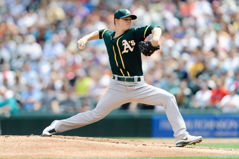 Sonny Gray des Athletics d'Oakland... (Photo Steven Bisig, USA TODAY Sports)