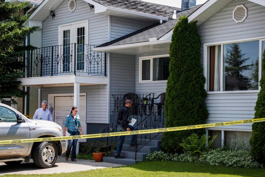 La maison d'Alvin et Kathy Liknes, les grands-parents... (Photo Jeff McIntosh, archives La Presse Canadienne)