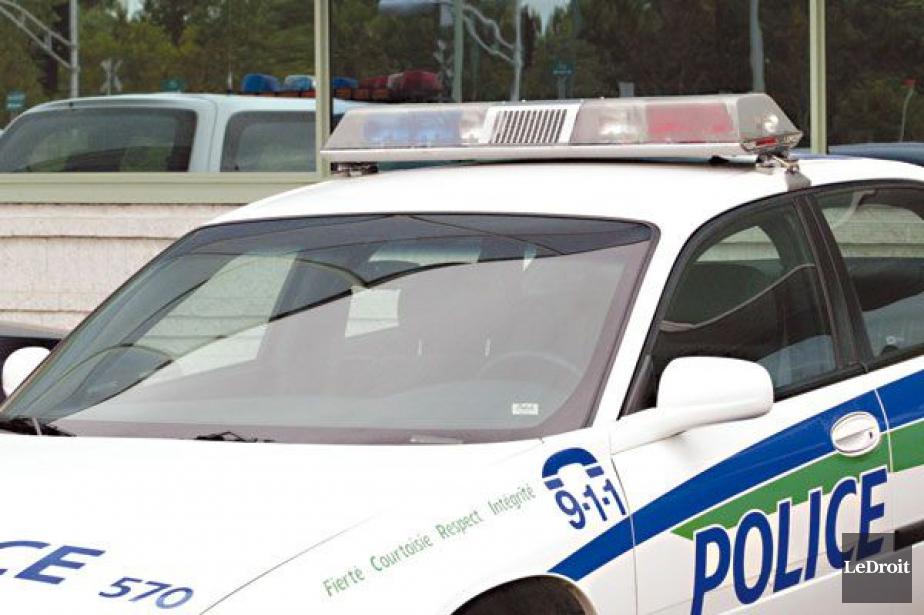 Le branle-bas policier qui a été déployé en début de... (PHOTO ARCHIVES LE DROIT)