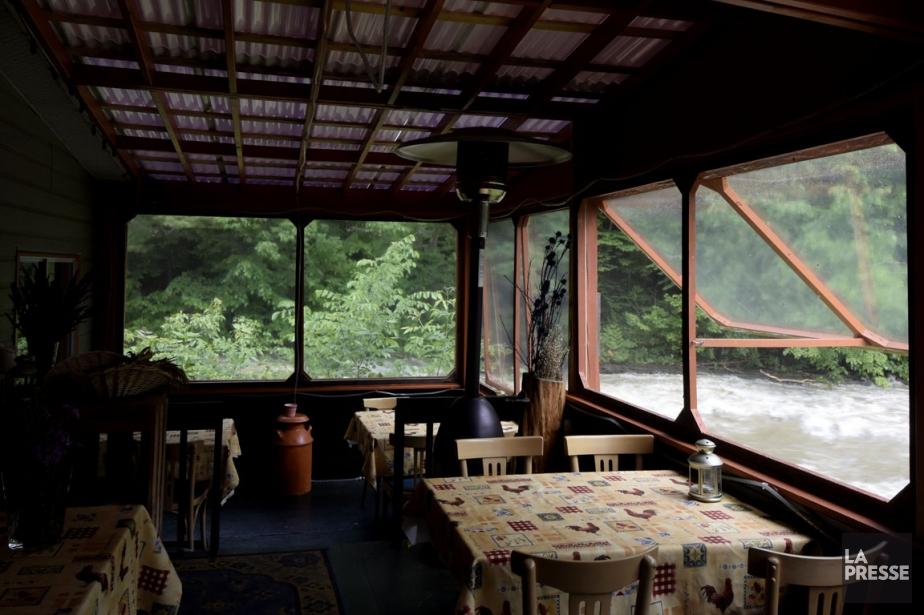 Le restaurant La Table des jardins sauvages, sur... (Photo Bernard Brault, La Presse)