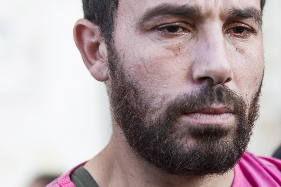 Ataf Baqr, dont le fils Ahed fait partie des quatre enfants tués hier.   17 juillet 2014