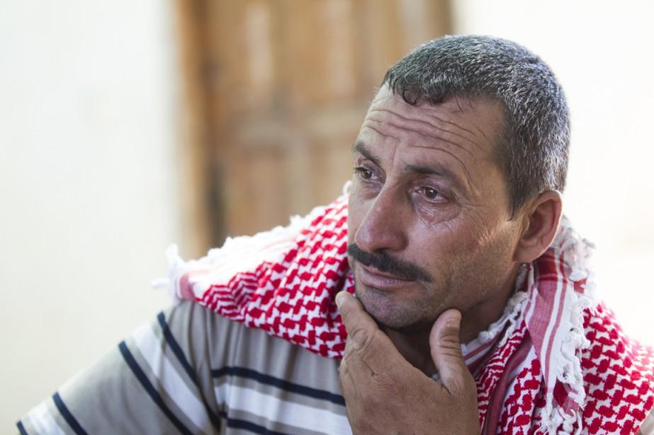 Sabri Hamad Abou al-Dbeir a enterré son fils Mohammed, 22 ans, mort dans la nuit de mardi à mercredi alors qu'il rentrait de chez des amis.   17 juillet 2014