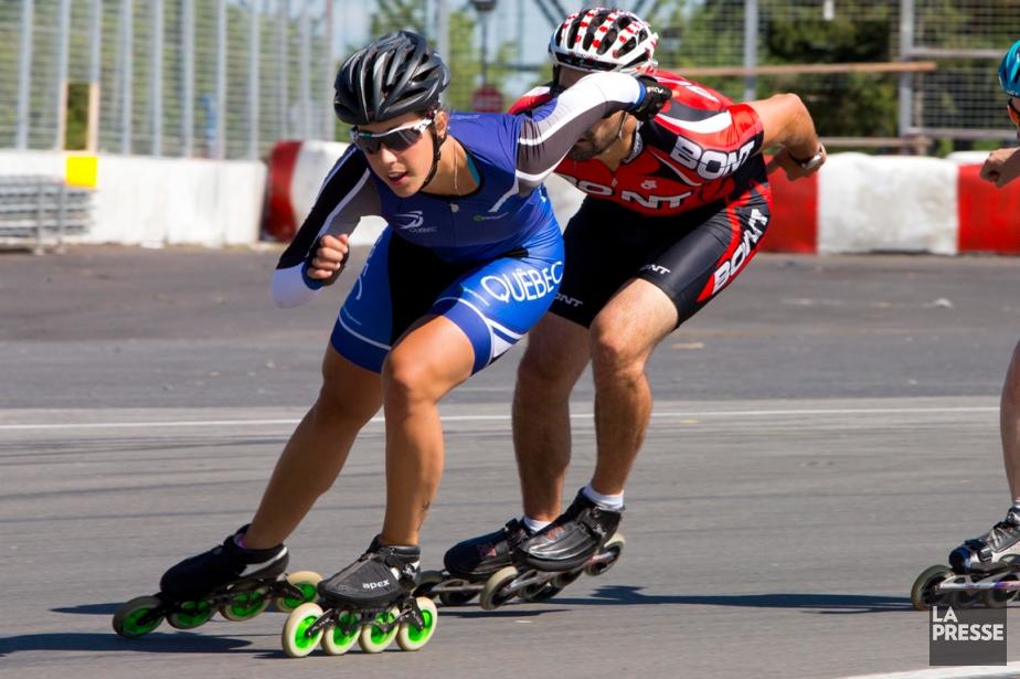 La patineuse de vitesse Valérie Maltais lors d'un... (Photo Alain Roberge, La Presse)