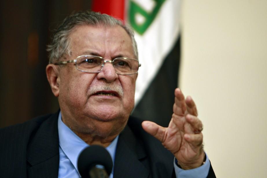 M.Talabani arrivera en Irak à la veille de... (PHOTO ALI AL-SAADI, ARCHIVES AFP)