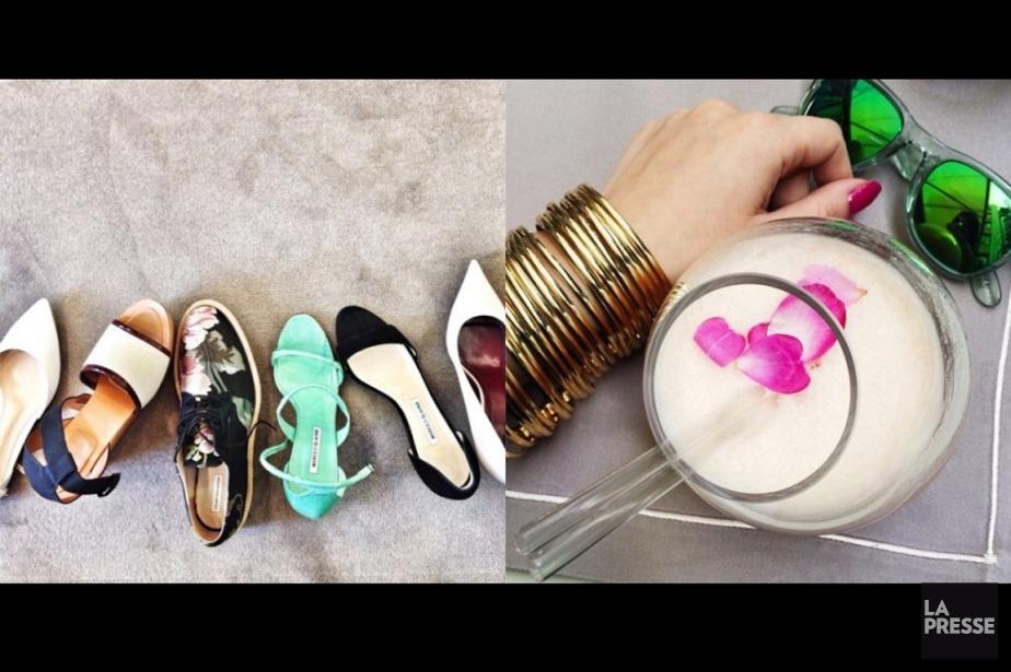 Quelques clichés Instagram de Betty Autier et de... (Photos tirées d'Instagram, photomontage La Presse)