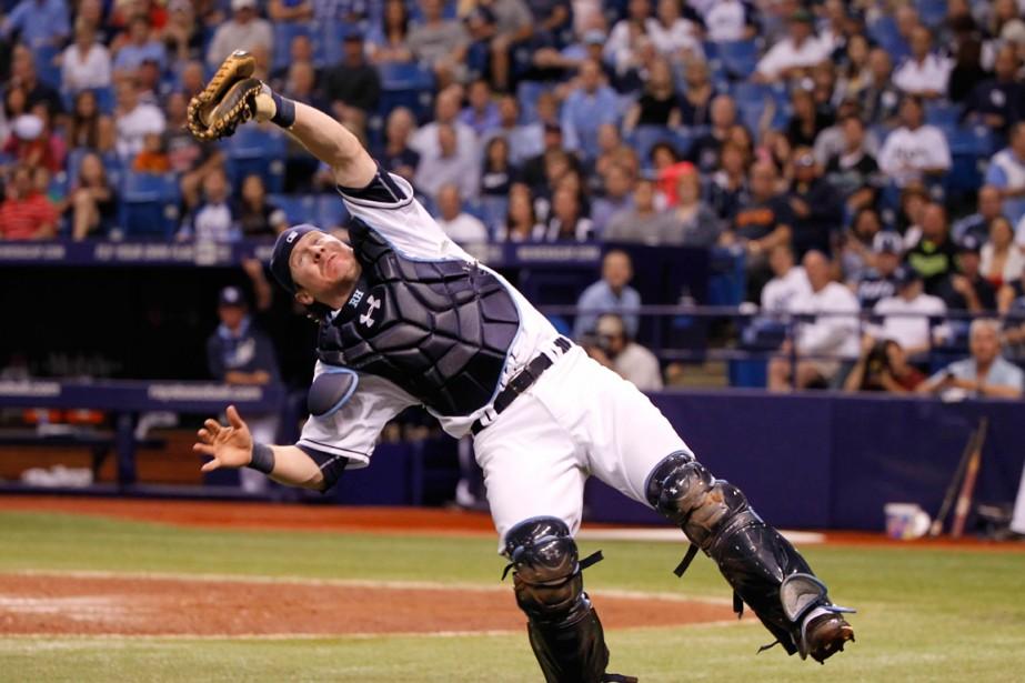 Ryan Hanigan des Rays de Tampa Bay... (Photo Kim Klement, archives USA TODAY Sports)