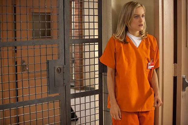 Taylor Schilling, dans la série Orange is the... (PHOTO FOURNIE PAR NETFLIX)