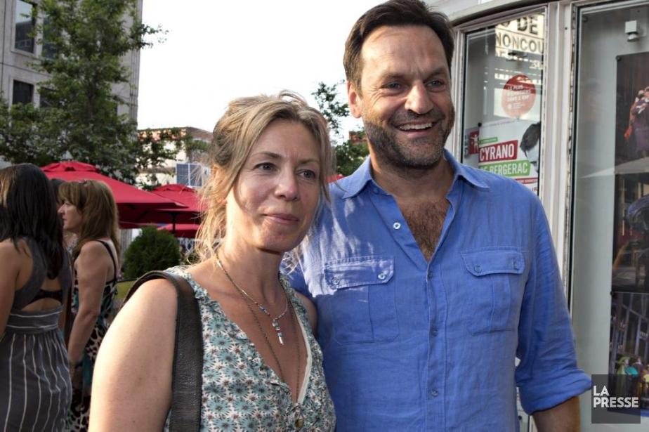 Benoît Gouin en compagnie de Céline Bonnier. (Photo: Olivier Jean, La Presse)