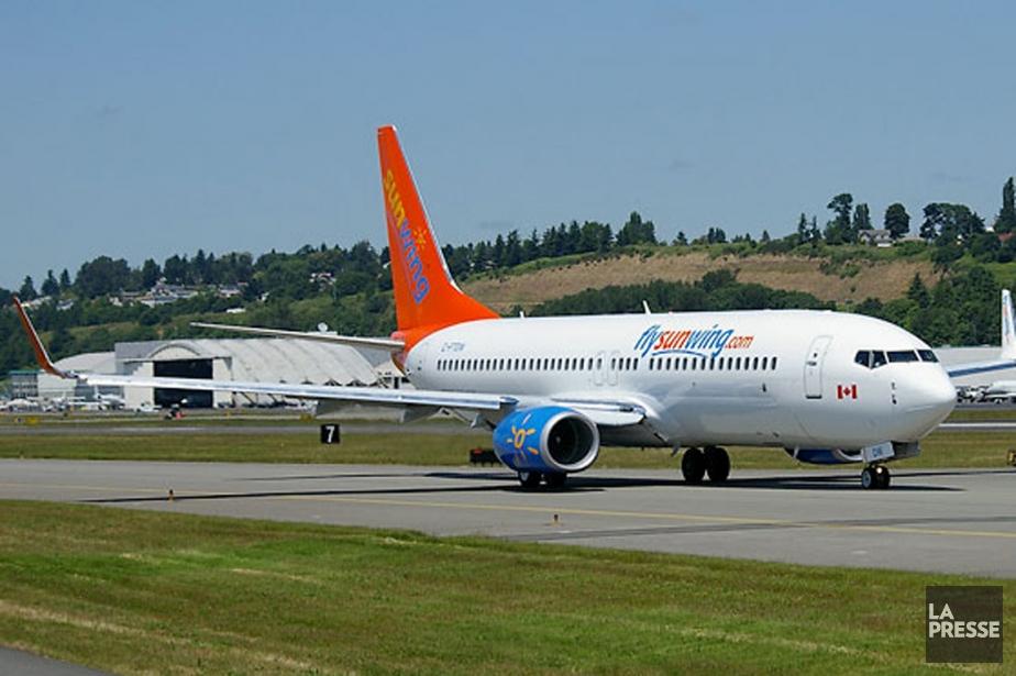 Le transporteur aérien Sunwing affirme que l'avion a... (PHOTO ARCHIVES LA PRESSE)