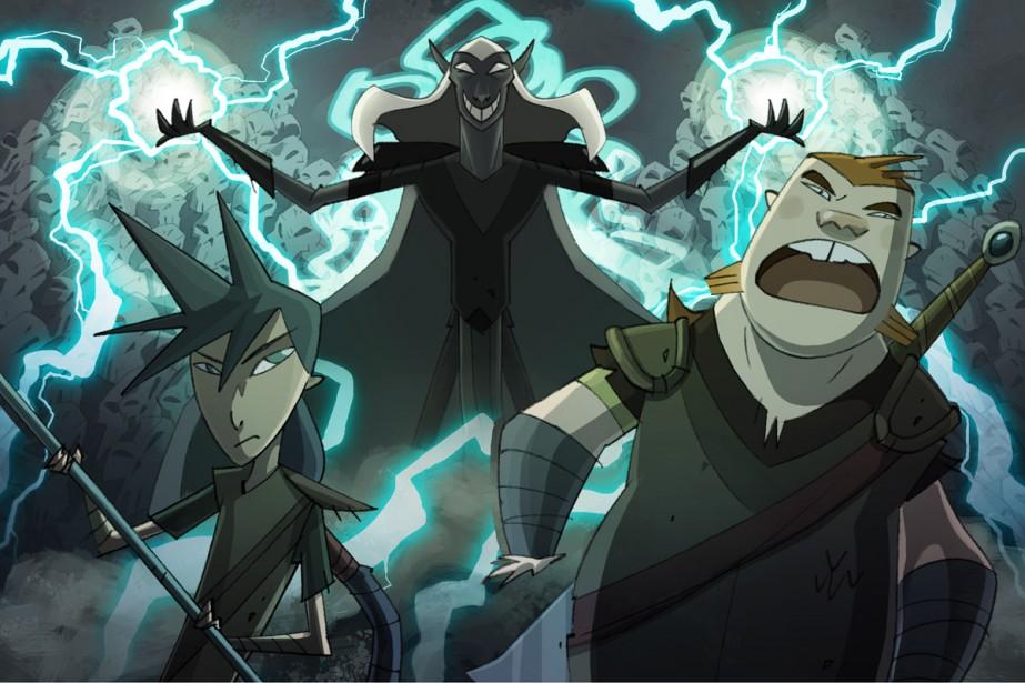 Version préliminaire des personnages d'Amos Daragon. De gauche... (Photo: fournie par IceWorks Animation)