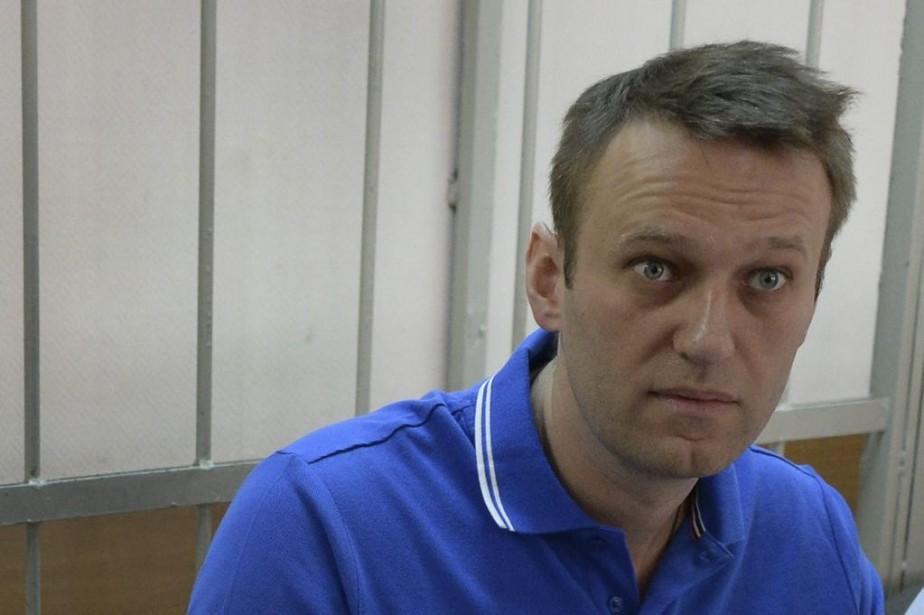Alexeï Navalny,lors d'une audience à huis clos dans... (PHOTO VASILY MAXIMOV, AFP)