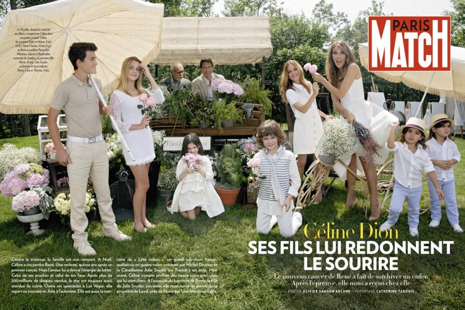 La photo de la famille de Céline Dion... (Photo: fournie par Paris Match)
