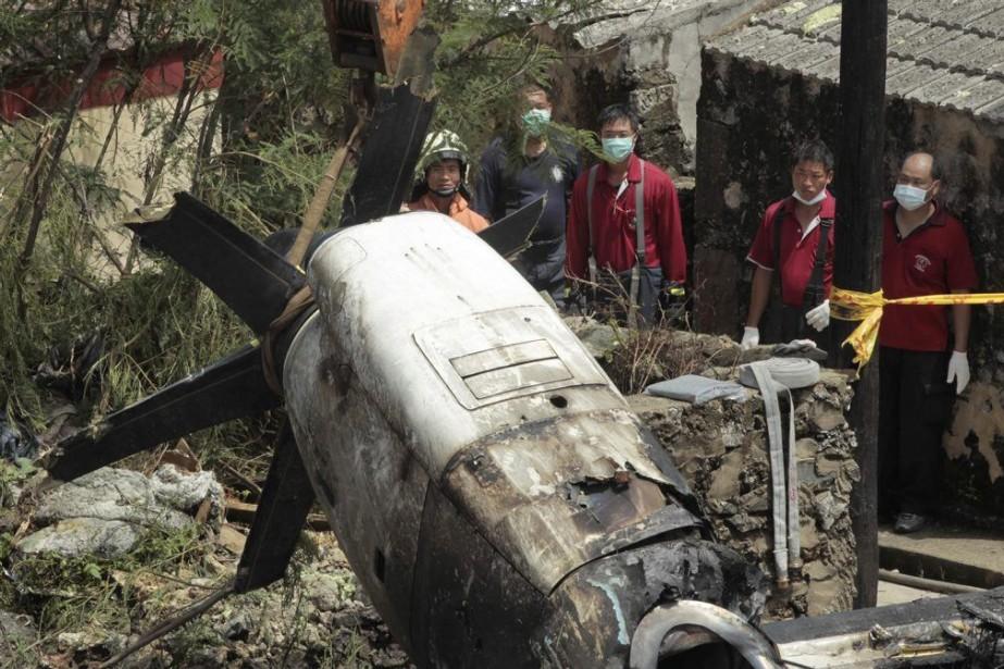Le vol GE222 de la compagnie taïwanaise TransAsia... (Photo Wally Santana, AP)