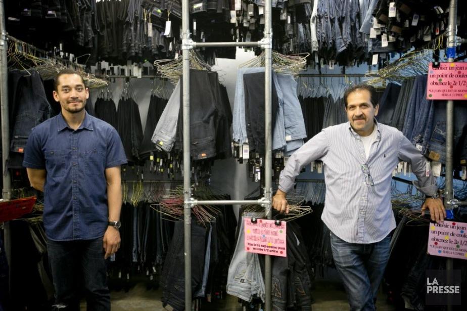 Les propriétaires de Jeans Jeans Jeans, Leroy Richardson... (Photo David Boily, La Presse)