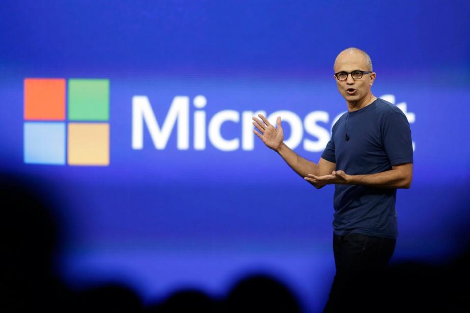 Satya Nadell, PDG de Microsoft.... (Photo Eric Risberg, archives Associated Press)