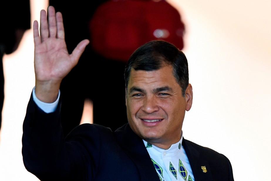 Rafeal Correa, le président de l'Équateur.... (PHOTO EVARISTO SA, ARCHIVES AGENCE FRANCE-PRESSE)