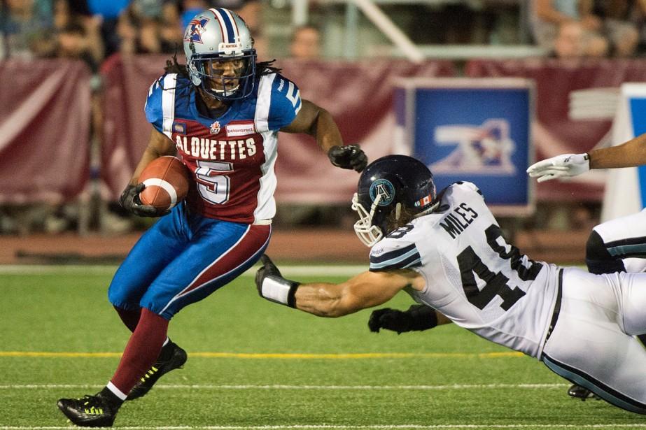 Thomas Miles des Argonauts de Toronto échoue à... (Photo Graham Hughes, La Presse Canadienne)