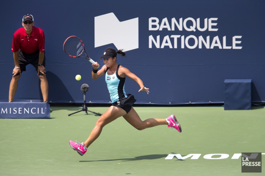 La Canadienne Carol Zhao en action lors du... (Photo Robert Skinner, La Presse)