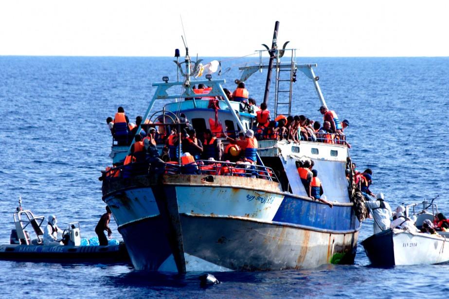 Selon des chiffres officiels arrêtés au 30 juillet,... (PHOTO FOURNIE PAR LA MARINE MILITAIRE ITALIENNE)