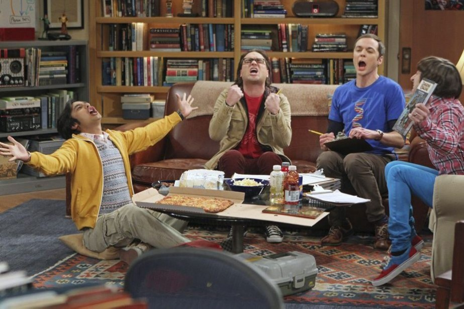 Kunal Nayyar, Johnny Galecki, Jim Parsons et Simon... (Photo: fournie par CBS)