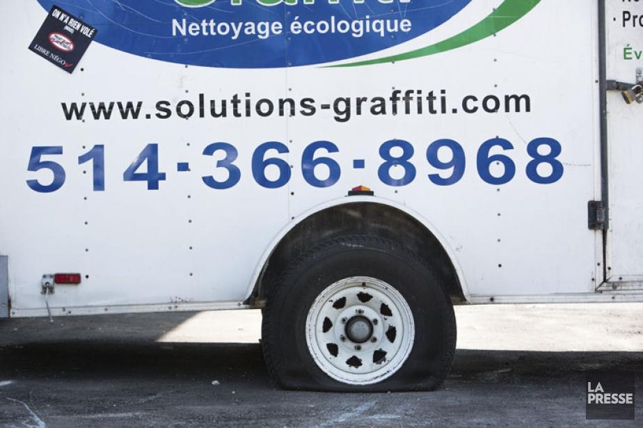 Le président de Solutions Graffiti, Sébastien Pitre, a... (PHOTO: SIMON GIROUX, LA PRESSE)