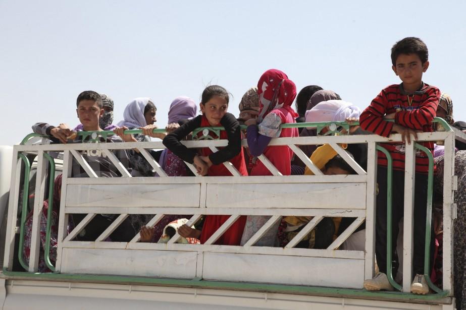 Plusieurs familles yézidies ont fui les violences des... (Photo Ari Jala, Reuters)