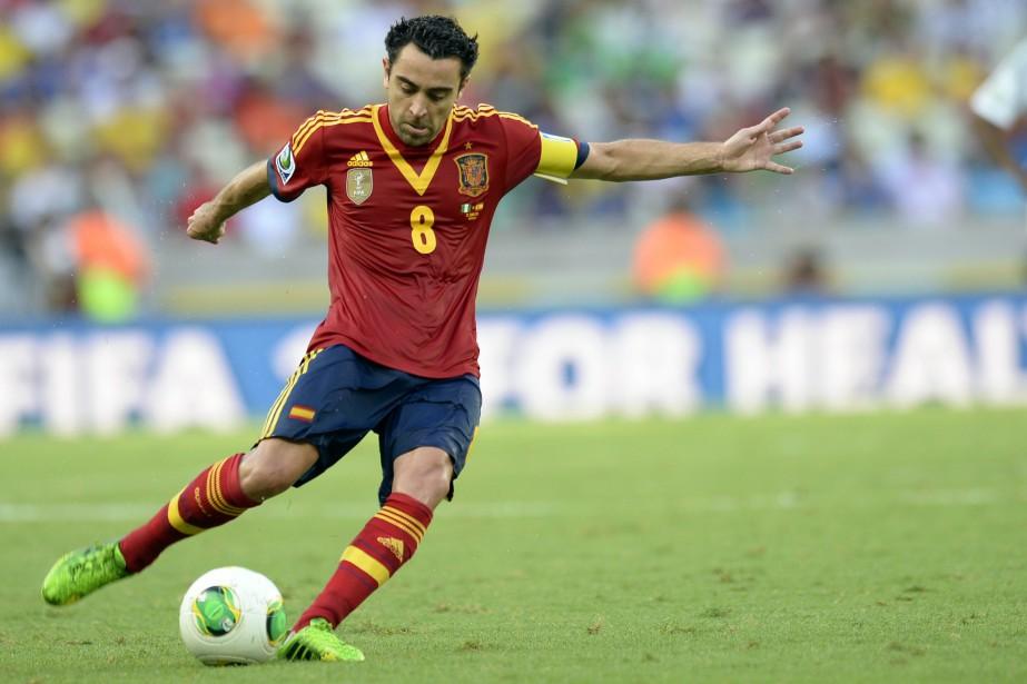 Xavi Hernandez... (Photo Lluis Gene, archives AFP)