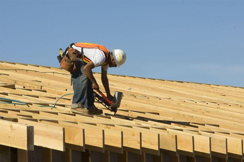 Les dépenses de construction aux États-Unis ont... (Photo archives Bloomberg)