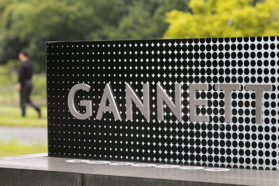The logo of Gannett Co is seen outside... (PHOTO LARRY DOWNING, ARCHIVES REUTERS)