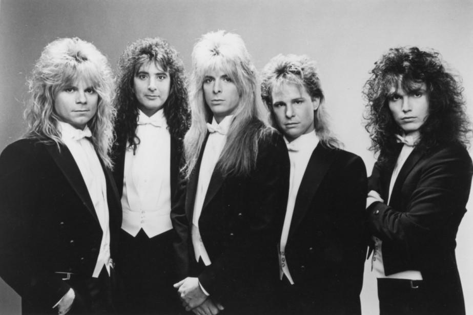 <strong>Giuffria</strong>: De véritables pièces montées, ces coiffures! Après l'échec de son deuxième album en 1986, le groupe va cogner chez Gene Simmons, de Kiss. Ce dernier mettra à la porte le chanteur David Glen Eisley (à gauche sur la photo) et rebaptisera le groupe House of Lords. (Photo: fournie par le groupe)