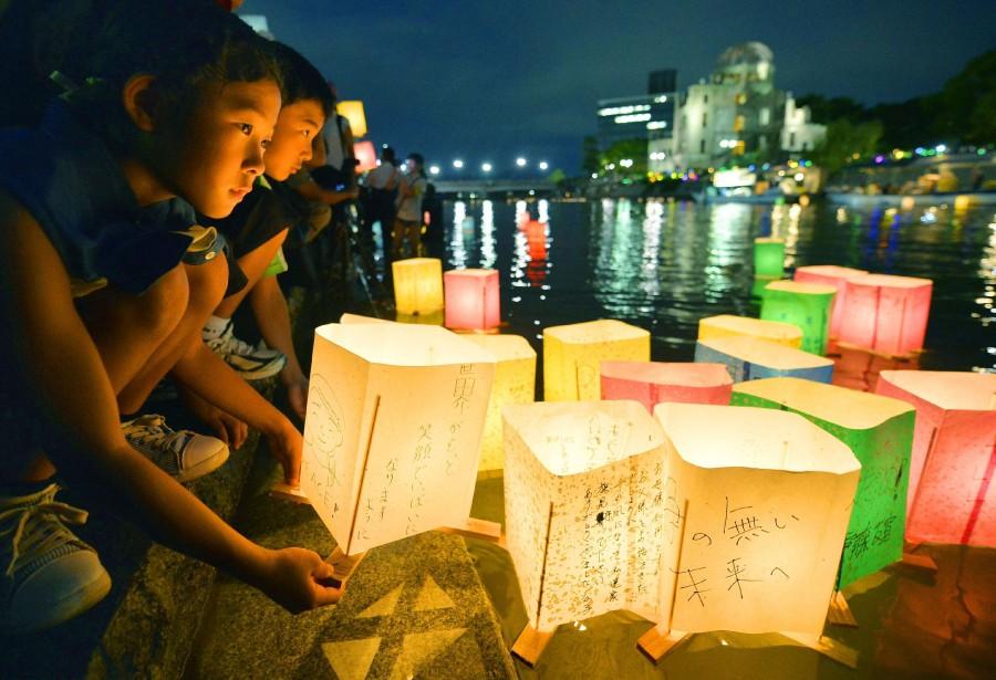 Autour du mémorial de la Paix de Hiroshima... (Photo AP)