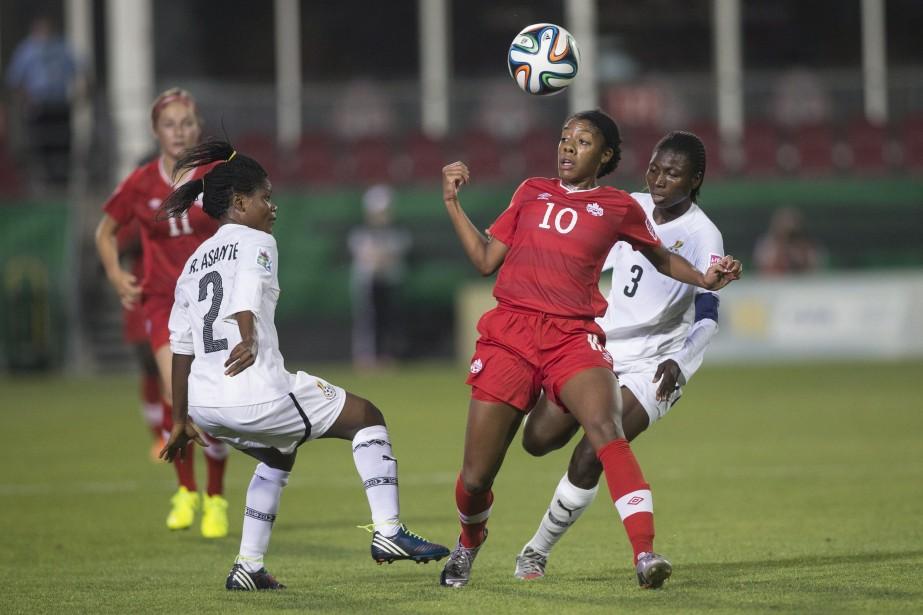 Sur cette photo prise hier, la Canandienne Ashley... (Photo Chris Young, La Presse Canadienne)