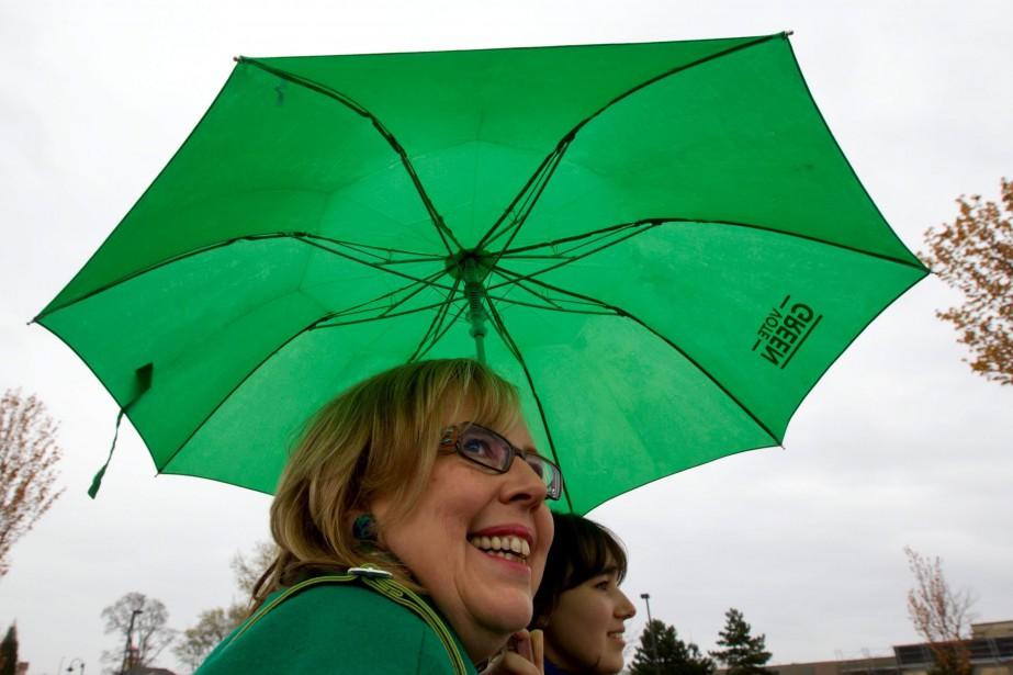 La chef du Parti vert, Elizabeth May, affirme... (Photo DARRYL DYCK, PC)