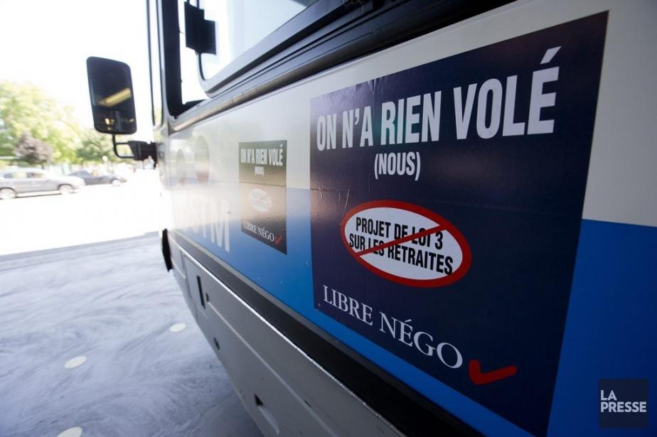 Les employés du transport public du Québec promettent... (PHOTO FRANCOIS ROY, LA PRESSE)