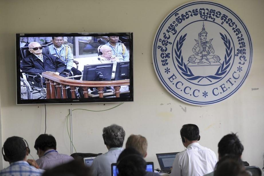 Cette condamnation de l'idéologue du régime Nuon Chea,... (Photo AFP)